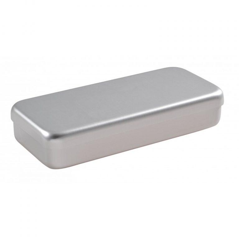 boite aluminium grise