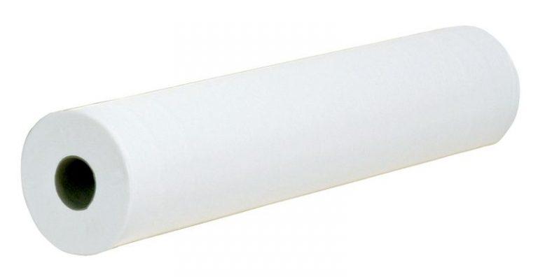 Draps d'examen ouatés blanc