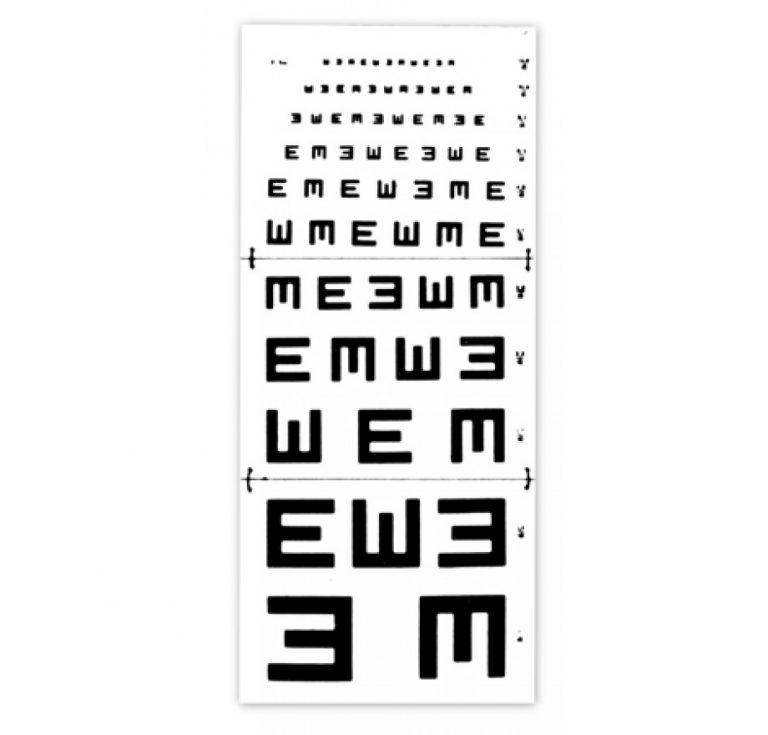 échelle optométrique Armaignac